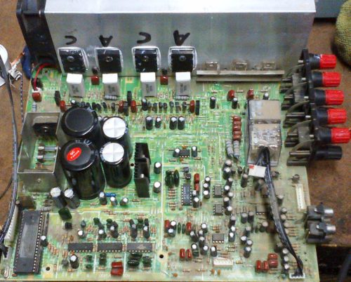 Futronic Amp AV-5400, no sound Problem repaired
